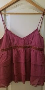 Anthropologie Eloise Raspberry Strappy camisole